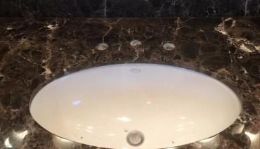 Restored marble vanity top