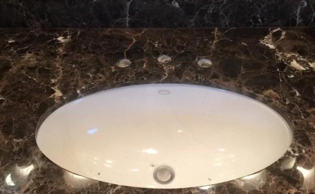 Marble vanity top restored