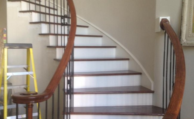 wood stairs installation