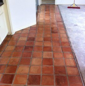 Saltillo Tile Cleaned and Sealed